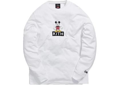 Kith x Disney 30s Mickey Standing Classic Logo L/S Tee Whiteの写真