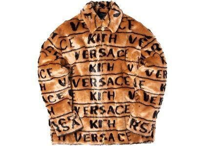 Kith x Versace Fur Coaches Jacket Brownの写真