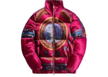 Kith x Versace Velour Down Jacket Burgundyの写真