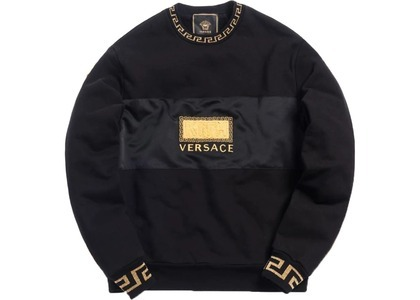 Kith x Versace Women's Greco Silk Robe Black/Goldの写真