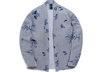 Kith Floral Print Seersucker Kimono Jacket Blueの写真