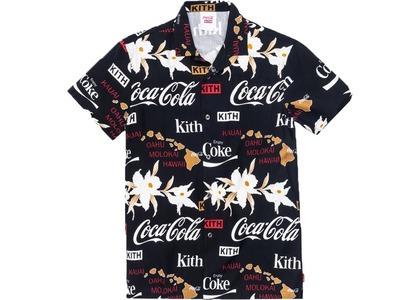 Kith x Coca-Cola Hawaiian Camp Button Up Blackの写真