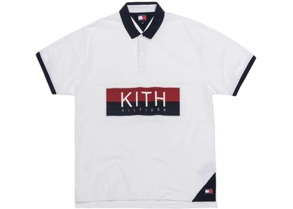 Kith x Tommy Hilfiger Chest Stripe Polo Whiteの写真