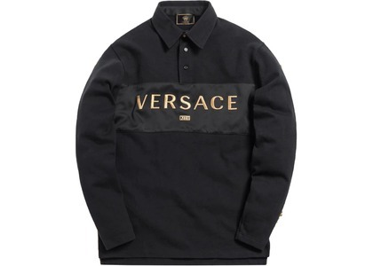 Kith x Versace Rugby Shirt Blackの写真