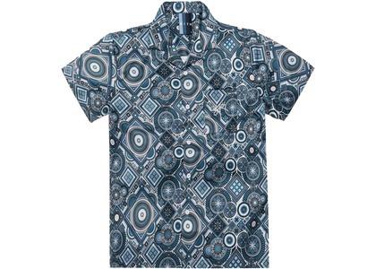 Kith Satin Geometric Tile Print Camp Shirt Sharkの写真