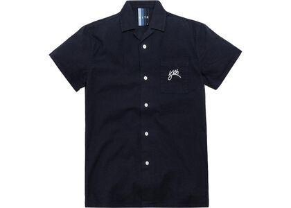 Kith Camp Collar Seersucker Shirt Navyの写真