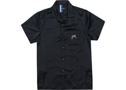 Kith Camp Collar Satin Shirt Blackの写真