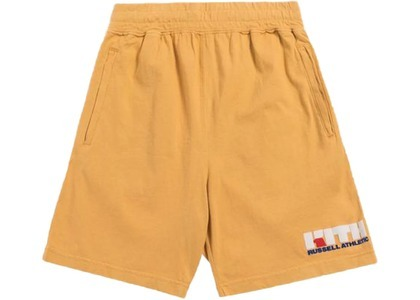 Kith x Russell Athletic Varsity Logo Shorts Golden Apricotの写真
