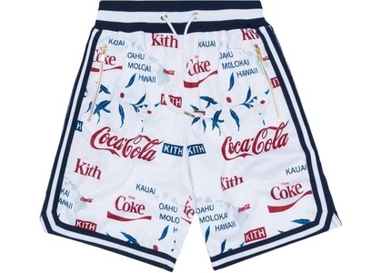 Kith x Coca-Cola x  Mitchell & Ness Hawaii Shorts Whiteの写真