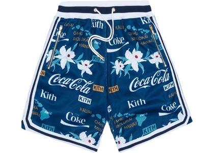 Kith x Coca-Cola x  Mitchell & Ness Hawaii Shorts Blueの写真