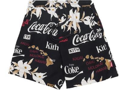 Kith x Coca-Cola Surf Board Print Hardaway Shorts Black Floralの写真