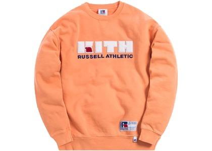 Kith x Russell Athletic Varsity Logo Crewneck Muskmelonの写真