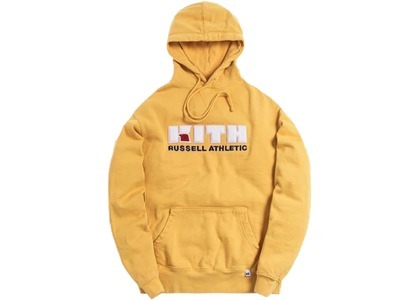 Kith x Russell Athletic Varsity Logo Hoodie Golden Apricotの写真