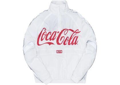 Kith x Coca-Cola Quarter Zip Nylon Windbreaker Whiteの写真