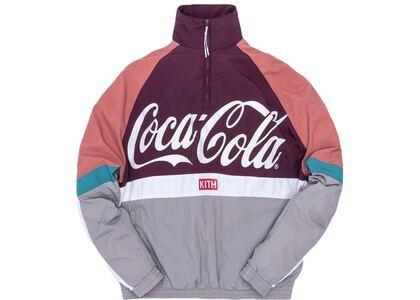 Kith x Coca-Cola Quarter Zip Nylon Windbreaker Greyの写真