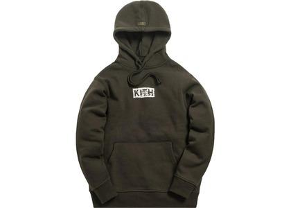 Kith Splintered Logo Hoodie Black/Oliveの写真