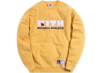 Kith x Russell Athletic Varsity Logo Crewneck Golden Apricotの写真