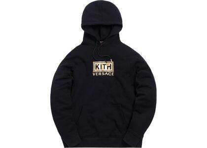 Kith x Versace Greek Key Hoodie Blackの写真