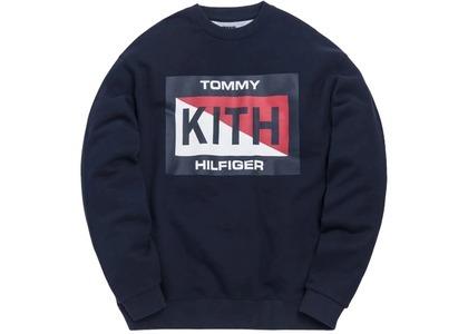 Kith x Tommy Hilfiger Slash Logo Crewneck Navyの写真
