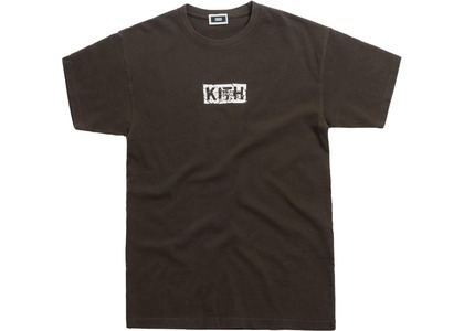 Kith Splintered Logo Tee Black/Oliveの写真