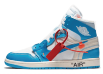 Off-White × Nike Air Jordan 1 Retro High NRG UNC の写真