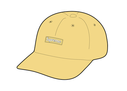 Supreme Washed Chino Twill Camp Cap (SS21) Light Yellowの写真
