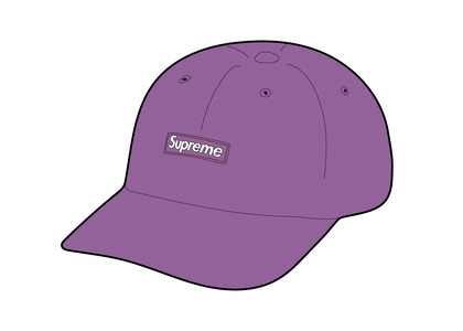 Supreme Washed Chino Twill Camp Cap (SS21) Light Purpleの写真