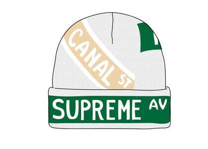 Supreme Street Signs Beanie Naturalの写真
