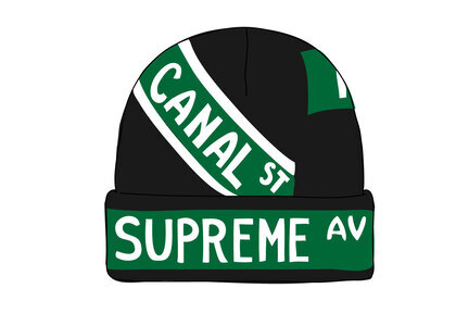 Supreme Street Signs Beanie Blackの写真