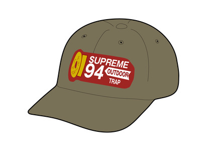 Supreme Shell Patch 6-Panel Oliveの写真