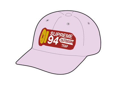 Supreme Shell Patch 6-Panel Light Purpleの写真