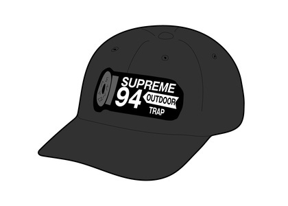 Supreme Shell Patch 6-Panel Blackの写真