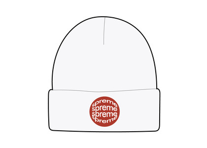 Supreme Lenticular Patch Beanie Whiteの写真