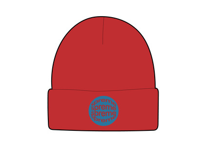 Supreme Lenticular Patch Beanie Redの写真