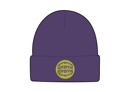 Supreme Lenticular Patch Beanie Purpleの写真