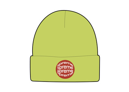 Supreme Lenticular Patch Beanie Limeの写真