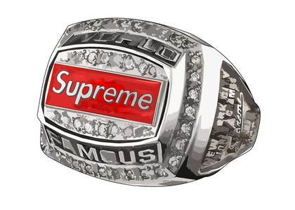 Supreme Jostens World Famous Champion Ring Silverの写真