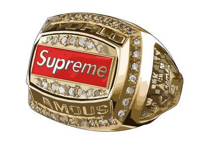 Supreme Jostens World Famous Champion Ring Goldの写真