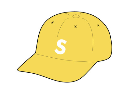 Supreme Fine Wale Corduroy S Logo 6-Panel Yellowの写真