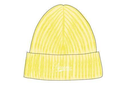 Supreme Bleached Rib Beanie Yellowの写真