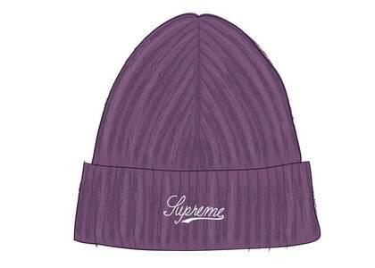 Supreme Bleached Rib Beanie Purpleの写真