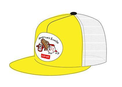Supreme America's Favorite Mesh Back 5-Panel Yellowの写真