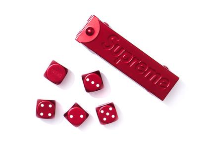 Supreme Aluminum Dice Set Redの写真