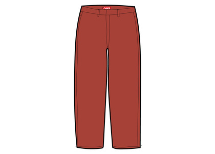 Supreme Work Pant (SS21) Redの写真