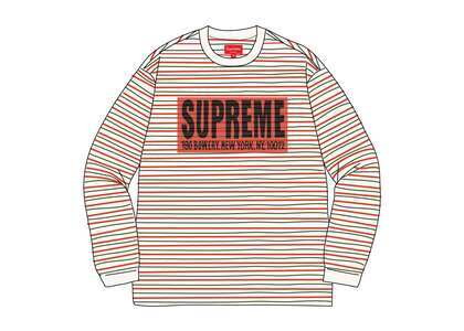 Supreme Thin Stripe L/S Top Whiteの写真