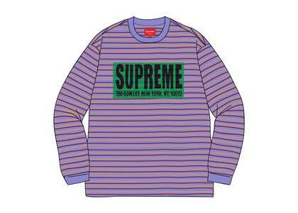 Supreme Thin Stripe L/S Top Light Purpleの写真