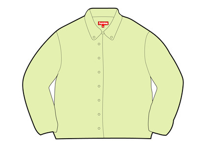 Supreme Stripe Oxford Shirt Fluorescent Yellowの写真