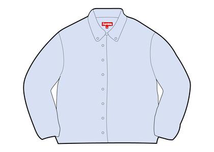 Supreme Stripe Oxford Shirt Blueの写真