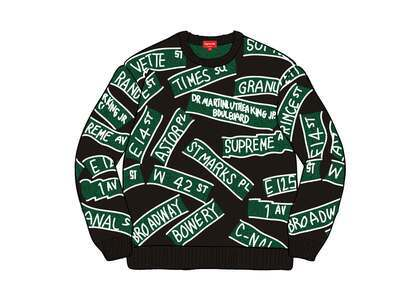 Supreme Street Signs Sweater Blackの写真