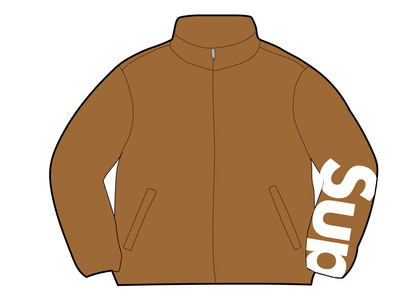Supreme Spellout Track Jacket Dark Goldの写真